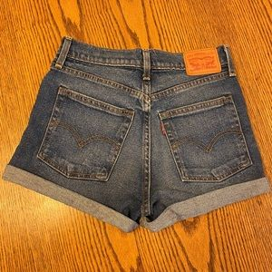 Levi's high rise wedgie fit jean shorts